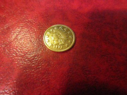 California Gold Token 1872 Dollar