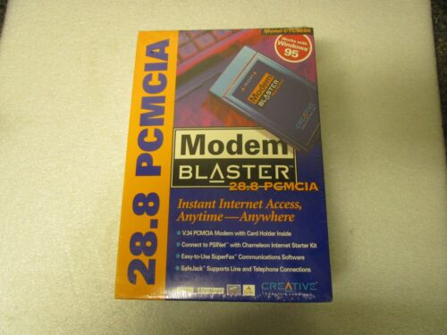 Sealed Box! Creative Labs Modem Blaster 28.8 PCMCIA CTC5050  - Old Stock