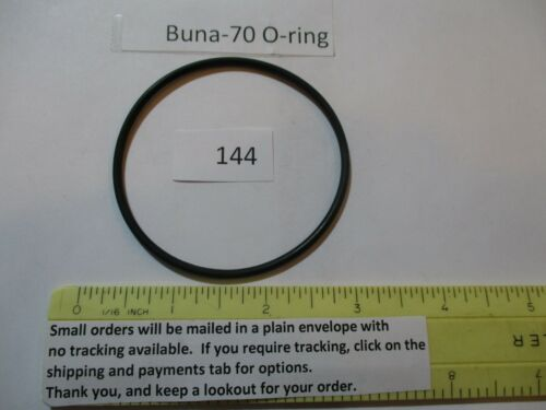 "144 O-ring 2-1/2 ID x 2-11/16 OD x 3/32"" thick.  Buna-70. Quan 1."