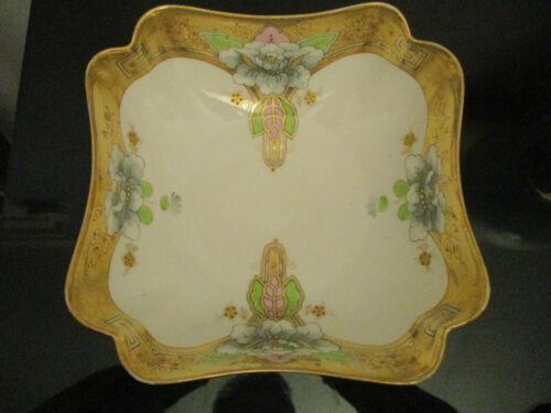 """Vintage Antique Art Nouveau Pickard China HandPainted Magnolia Gold Gilt 9"""" Bowl"""