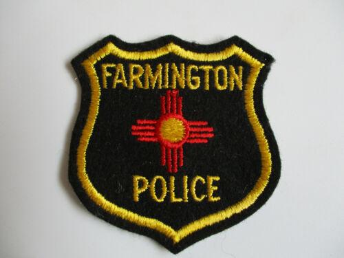 vintage Farmington NM New Mexico Felt Construction Police Patch RARE