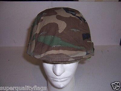 Steel Pot Helmet US M1 woodland camo complete genuine GI military surplus nice