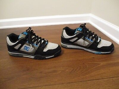 Used Worn Size 10 DC Shoes Spartan Low SN Skateboard Shoes Black Gunmetal - Dc Spartan Low Shoes