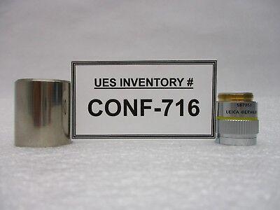 Leica 567050 Microscope Objective Pl Fluotar 10x0.25 - With Sleeve Used