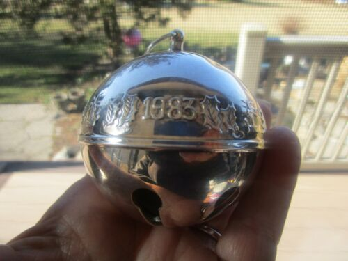 Wallace Silverplate Sleigh Bell Ornament 1983 No Box