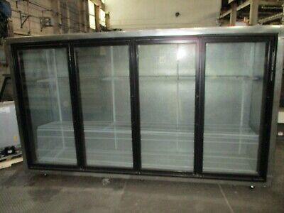 Used Custom 4 Glass Door Reach-in Floral Cooler W Brand New Compressor