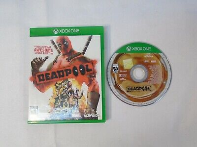 Deadpool (Microsoft Xbox One, 2015) Tested Guaranteed Case Cover Art Game Disc
