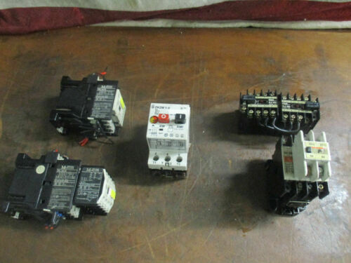 LOT_MAGNETIC CONTACTORS: FUJI ELECTRIC (3), PKZM 1-6 (1) + KLOCKNER MOELLER (2)