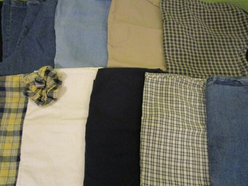 💉 Lot of 9 Scrubs Tops Jackets Scrunchie * Size SMALL * Neutral Prints Blue 🏥