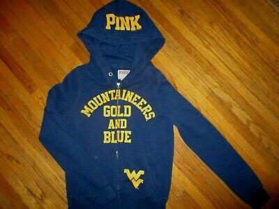 West Virginia Mountaineers Kapuze Sweatshirt Zip-Up Rosa Damen Mädchen Junior Sm