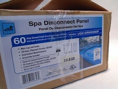 New Midwest Spa Disconnect Panel Ug412rmw260p 125a 2 Space 4 Circuit Breaker Box