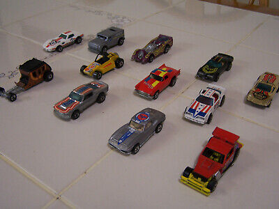 NICE LOT of 12 HTF! Vintage Hot Wheels Mustang Stocker, Hot Bird!! BLACK WALLS!!