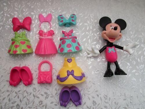 Minnie Mouse - 4 Snap On Dress Up Minnie Along w Accessories  - Disney Mattel