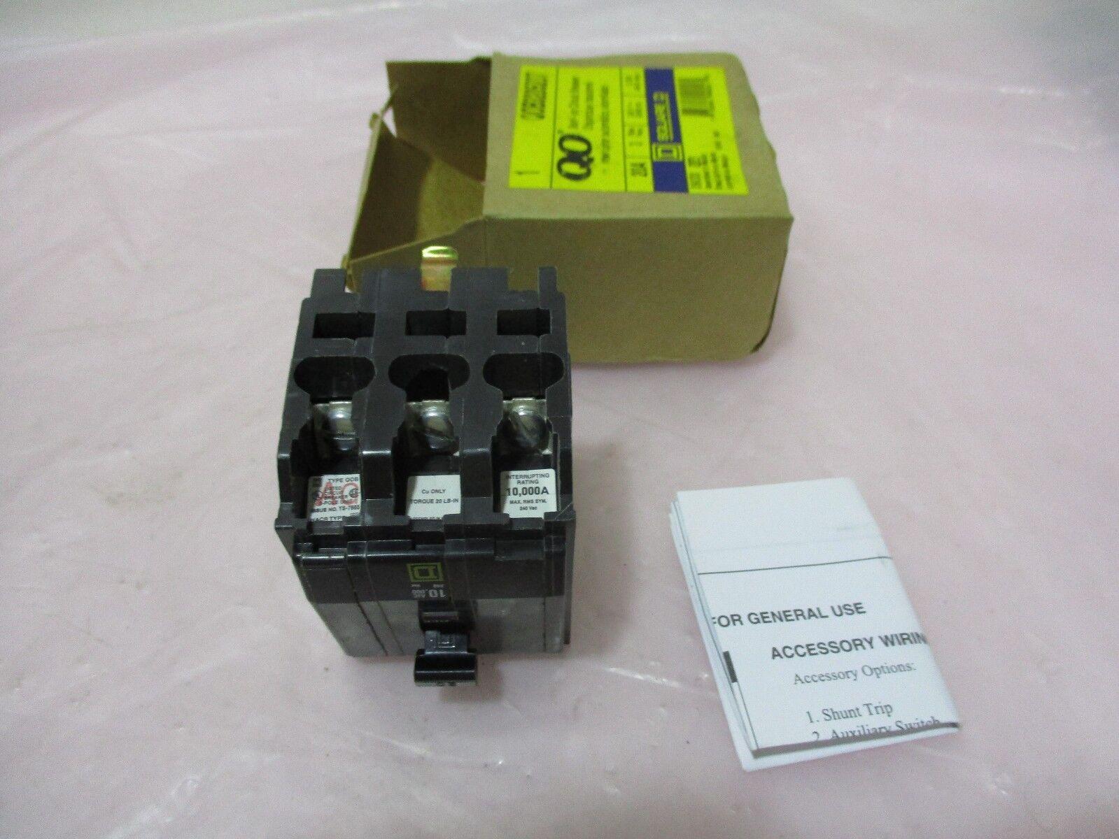 Square D QOB3205231 Circuit Breaker, 20A, 3 Pole, 240v, 50/60Hz, 420354