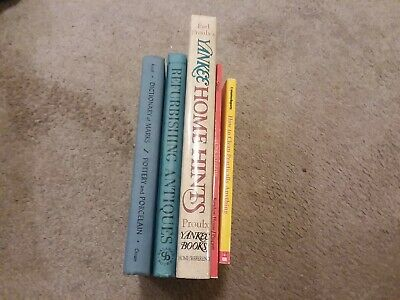 Lot 5 Bks Dictionary of Marks + Refurbishing Antiques + Yankee Home Hints +