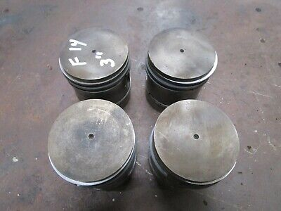 Ih Farmall F14 F12 Original Used 3 Inch Cast Pistons Set Of 4 Antique Tractor
