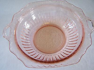 Pink Hocking Mayfair Open Rose Lg. Serving Bowl