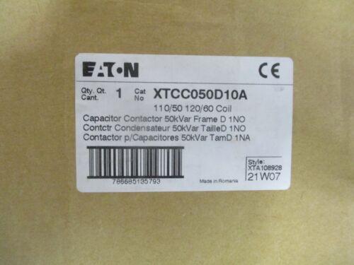 CUTLER HAMMER/EATON XTCC050D10A, 50 KVAR CAPACITOR CONTACTOR- NEW
