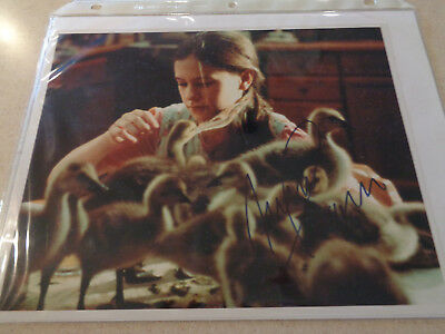 Anna Paquin   Fly Away Home   Very Rare Signed 8X10 Young Color Photo W Coa