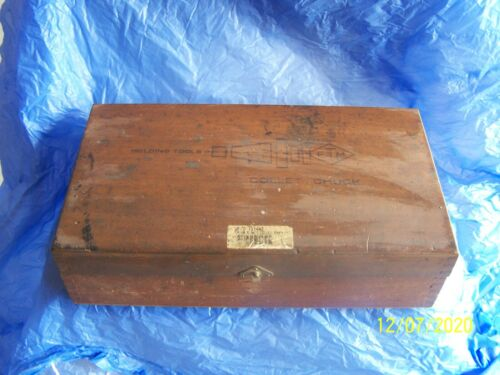 Vintage14 Piece COLLET HOLDING TOOL SET IN WOOD BOX - Most are ETM