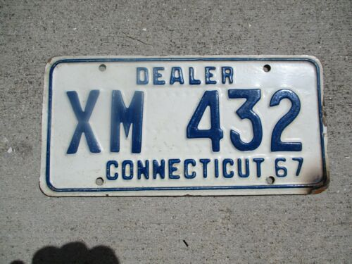 Connecticut 1967 Dealer license plate  #  XM  432