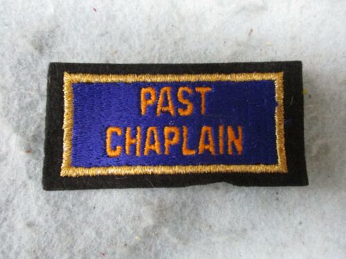 WWI American Legion Medal Hat Insignia Past Chaplain Bullion and Embroidered WW1