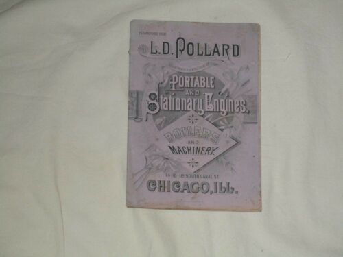 L.  D. Pollard Portable and Stationary  Engines Boilers Catalog
