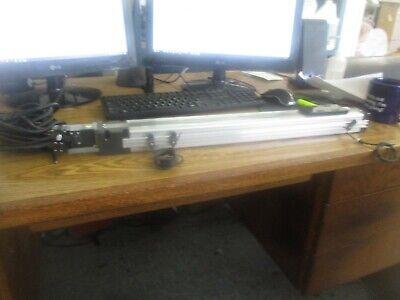 Thk Vlast60-12-0450 Linear Actuator With Mitsubishi Hf-kp13 Motor Sensors