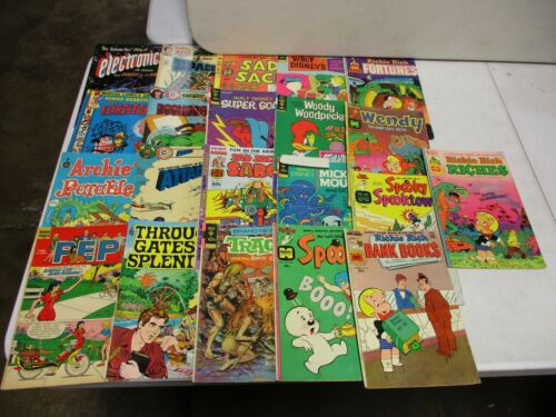 21 Vintage Comics with Woody Woodpecker, Doomsday, Space 1999