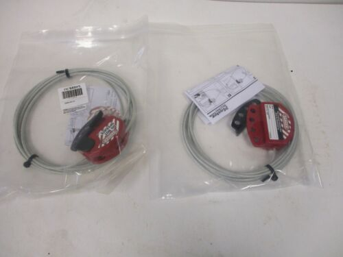 MASTER SAFETY SERIES LOCK AND CABLE, S806CBL15, 2 (6ADF5) PER LOT, NEW