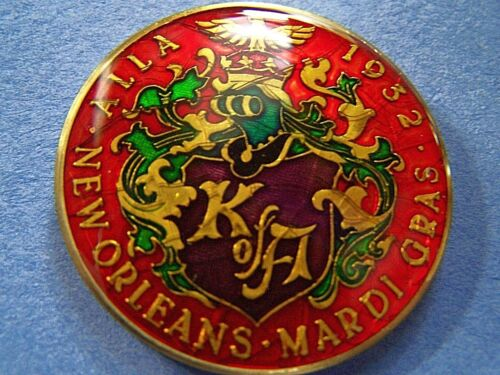 1980 Alla ONCE UPON A TIME Multi-Color High Relief Mardi Gras Doubloon
