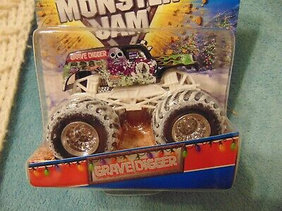 HOLIDAY SPECIAL EDITION GRAVE DIGGER Monster Jam Truck with Snow Tires 2012