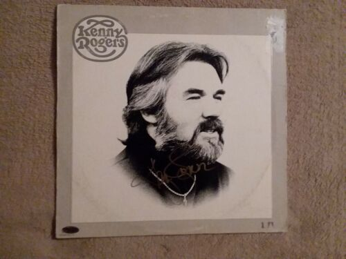 KENNY ROGERS SIGNED LP;  Comes with a COA card and sticker on cover.