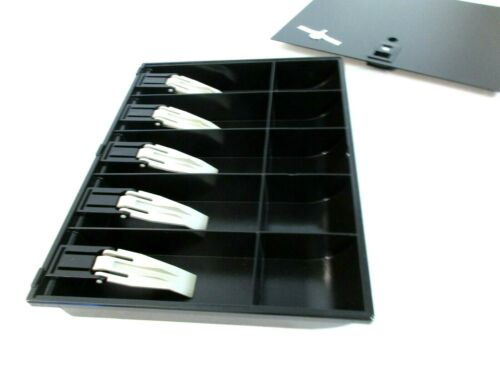 IBM POS Cash Till Drawer Trays 4783879 4783869 W/Cover 5-Bill 5-Coin Slots