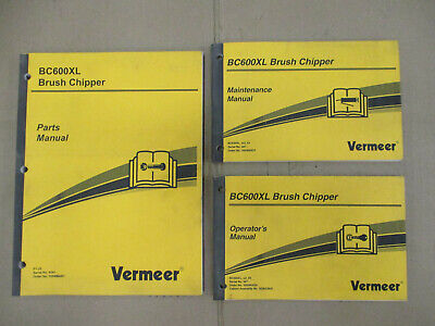 Vermeer Bc600xl Brush Chipper Parts Operators Maintenance Manual Set Wood