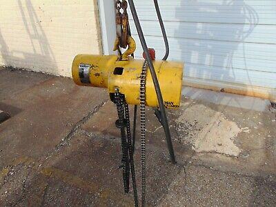 Budgit 12 Ton Electric Chain Hoist Model 113452-35 Cat C-356-1r 230460 3ph
