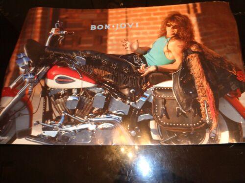 Jon Bon Jovi 1989 Harley Davidson Motorcycle Leather SOLO Funky 22X35
