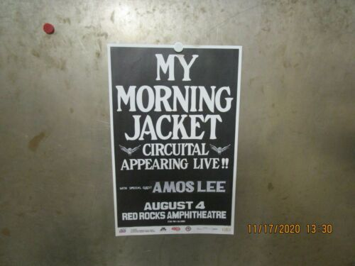 MY MORNING JACKET w/ AMOS LEE Red Rocks Amphitheatre Denver 2011 SHOW POSTER