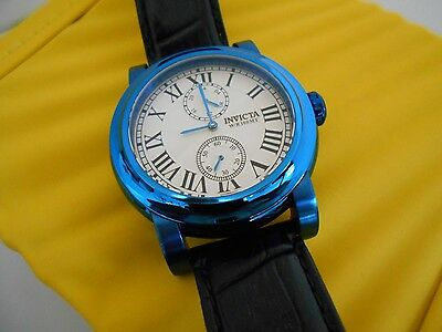 Mint Rare Invicta Men's I Force Quartz Multi Function Leather Strap Watch w/Box