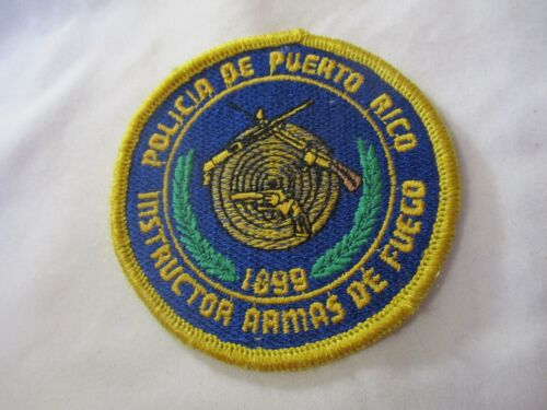 Puerto Rico Police Firearms Instructor Patch / PR