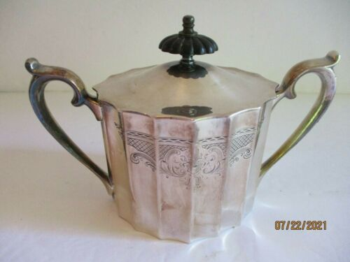 Vintage Lunt Silverplate Sugar Bowl with Lid