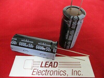 Qty 2 Nichicon 6800uf 50-volt Radial Uvr1h682mrd Authorized Distributor