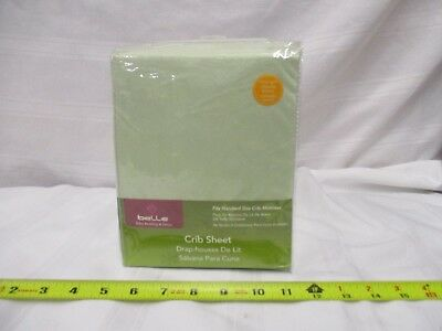 belle baby bedding & decor crib sheet green fits standard sized crib mattresses for sale  Shipping to India