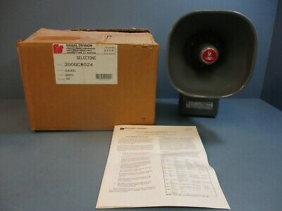 Federal Signal 300gc-024 Selectone Amplified Speaker New