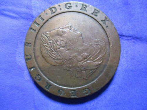 GREAT BRITAIN GEORGE III 1797 TWOPENCE CARTWHEEL VF  S-3776