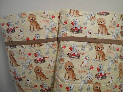 Handmade Pillowcase Standard/Queen  Dogs Puppies Flannel Set of 2 Valentine