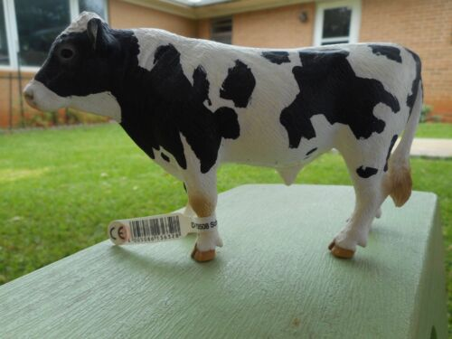 HOLSTEIN BULL by Schleich; toy/cow/replica/13632/RETIRED