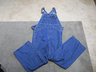 VINTAGE Calvin Klein Overalls Adult Medium Blue Jeans Bib Denim Coveralls 90s