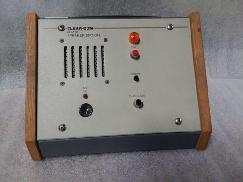 Clear-Com KB-112 Intercom Systems Pro Speaker Station - 60 day warranty