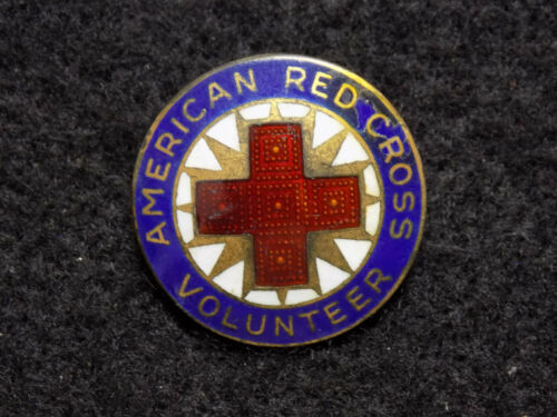 WWII American Red Cross Production Volunteer Badge Sterling Silver